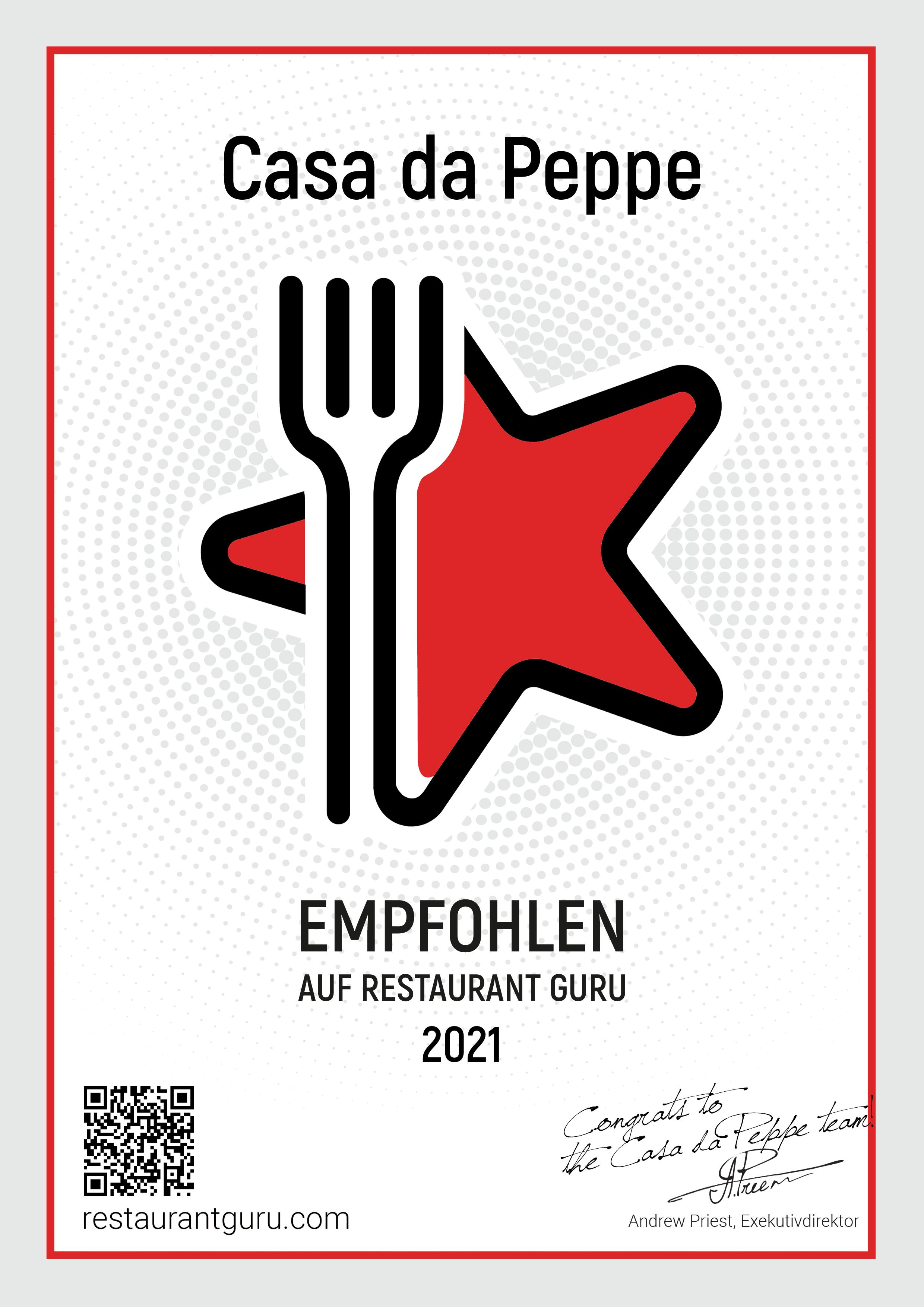 Restaurant Guru Empfehlung Casa da Pepe